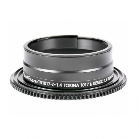 Nauticam Zoom Gear TC1017-Z + 1.4 for Canon Tokina 10-17 with Kenko 1.4x Pro 300 TC