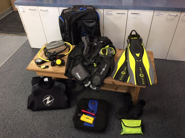 packing scuba gear