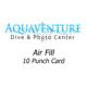 air fill 10 punch card